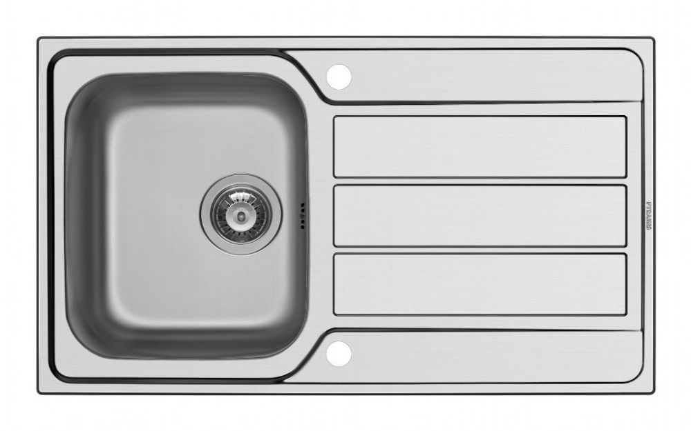 Pyramis Athena Single Bowl Inset Sink - 86 x 50cm Stainless Steel